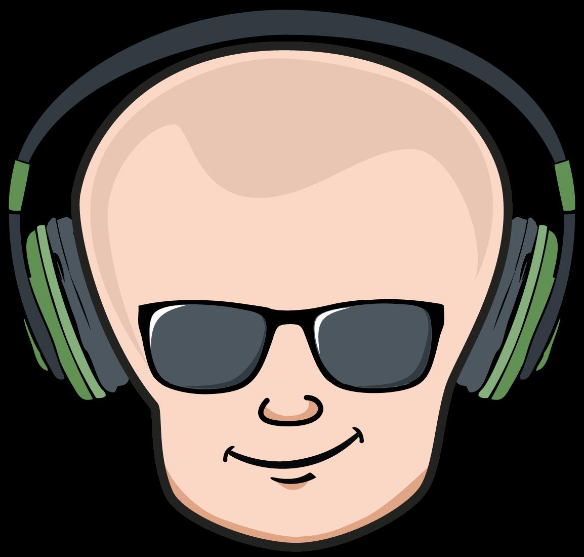 Baldheads logo Illustration